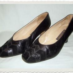 Pantof dama Made in Italia elegant din piele Confort Italia masura 40 - Reducere, Culoare: Negru, Piele naturala
