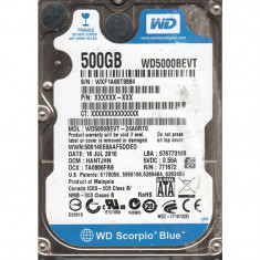 HDD laptop Western Digital 500 GB, 500-999 GB, Rotatii: 5400, SATA2, 8 MB