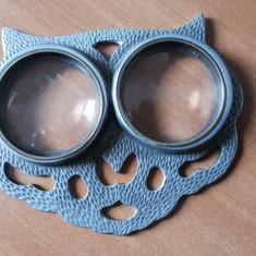 Lupa dubla, veche, franceza, in forma de cap de pisica