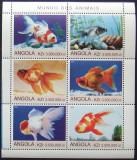 ANGOLA 2000 - PESTI DE ACVARIU,  1 M/SH NEOBLITERATA, POSTA PRIVATA - PP 257