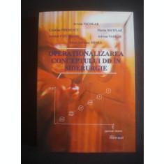 AVRAM NICOLAE, CRISTIAN PREDESCU, PETRICA VIZUREANU, MARIA NICOLAE, ADRIAN VASILIU - OPERATIONALIZAREA CONCEPTULUI DD IN SIDERURGIE