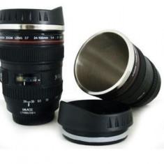 Cana termos in forma de obiectiv foto -din inox - Termos/Bidon