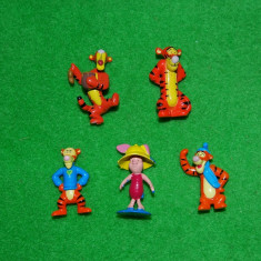Lot 5 figurine Winnie de Pooh, 4 buc Tigger (tigru) si 1 buc. Piglet (purcel) - Figurina Povesti