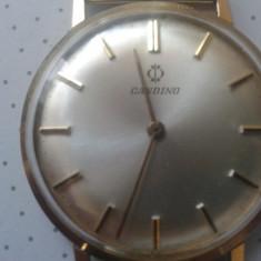 Ceas Candino Swiss - Ceas barbatesc Candino, Casual, Mecanic-Manual, Placat cu aur, Analog, 1970 - 1999