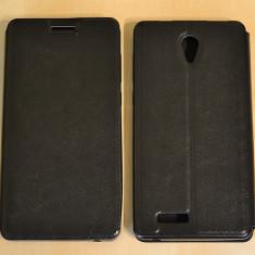 Husa Allview P6 LIFE Flip Case Slim Black - Husa Telefon Allview, Negru, Piele Ecologica, Cu clapeta, Toc