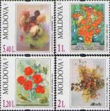 MOLDOVA 2010, Flora - Picturi, serie neuzata, MNH
