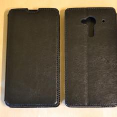 Husa ZTE Z5 Nubia Flip Case Slim Black - Husa Telefon ZTE, Negru, Piele Ecologica, Cu clapeta, Toc
