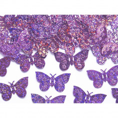Confeti fluturi, Lila - Decoratiuni nunta