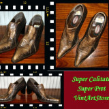 Pantof dama Made in Italia piele de sarpe Graceland Italia masura 38 - Reducere, Culoare: Maro, Piele naturala