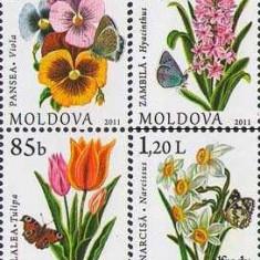 MOLDOVA 2011, Flora, serie neuzata, MNH, Nestampilat