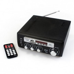 Amplificator 2x15W  cu cititor  SD si USB cu telecomanda