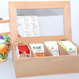 Cutie din lemn de fag pentru pastrarea pliculetelor de ceai - Noua