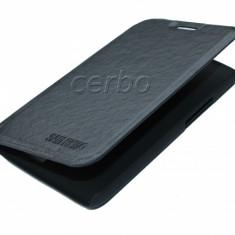 HUSA ORANGE SAN REMO negru UB - Husa Telefon Orange, Alcatel OT-918, Piele Ecologica, Cu clapeta