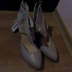 Pantofi Diesel stil gladiator - Pantof dama Diesel, Culoare: Bej, Marime: 39, Piele naturala, Cu toc