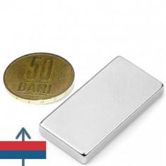 Magnet Neodim 40x20x05 mm cu Forta  N42   folosit in diverse tehnologii ( generatoare eoliene, motoare)