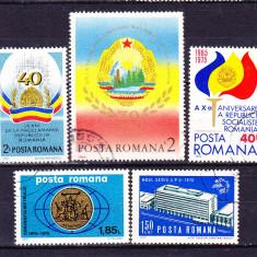 Timbre ROMANIA DUPA 1950 = ANIVERSARI, EVENIMENTE - 5 SERII COMPLETE
