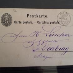 CP 1879 Elvetia Zurich Aarburg, Circulata