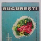 Plian turistic vintage Bucuresti cu poze si harta / R3P5S - Carte de calatorie