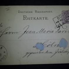 CP 1885 Germania Koln Rhein, Circulata