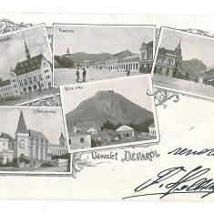 1214 - L i t h o, DEVA - old postcard - used - 1898 - Carte Postala Transilvania pana la 1904, Circulata