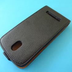 Husa HTC Desire 500 Flip Toc Clapeta Inchidere Magnetica Piele ECO Negru !!! Folie de protectie display CADOU !!! - Husa Telefon HTC, Piele Ecologica
