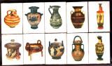 CHIBRIT / CHIBRITE / CHIBRITURI VECHI  Grecia LOT 10 cutii tematica arheologie-vase antice grecesti anii 1970-1975
