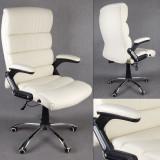 Scaun de birou, directorial, piele fina rezistenta DEKA ManagerialCREM, Crem