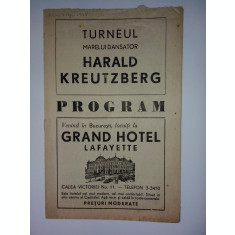 Program - Turneul marelui dansator Harald Kreutzberg
