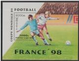 Laos, fotbal, CM din Franta, 1997, colita, MNH, Sport, Nestampilat