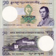 BHUTAN 10 ngutlrum 2006 UNC!!! - bancnota asia