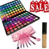 Trusa machiaj 120 culori MAC  + anticearcan camuflaj  + set 7 pensule make up, Mac Cosmetics