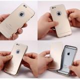 Husa bumper protectie din ALUMINIU metal + capac acrylic telefon Iphone 6 5.5, iPhone 6 Plus, Auriu, Metal / Aluminiu, Apple
