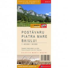Schubert&Franzke Muntii Nostri Harta Postavaru Piatra Mare Baiului MN05 - Harta Turistica