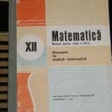 RWX 42 - MATEMATICA - ELEMENTE DE ANALIZA MATEMATICA - 1987
