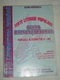 RWX 06 - LITERATURA ROMANA - TEXTE LITERARE POPULARE - DOINA BALADA SI BASMUL, Alta editura