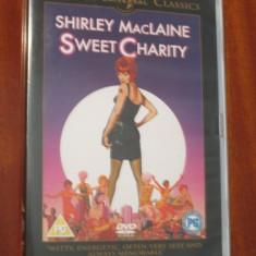 SWEET CHARITY - film MUSICAL DVD - cu SHIRLEY MACLAINE (original din Anglia, in stare impecabila!!!)