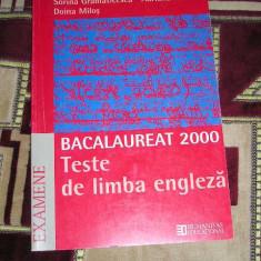 RWX 06 - LIMBA ENGLEZA - TESTE BACALAUREAT - 2000