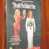 DEATH BECOMES HER - film COMEDIE HORROR 1 DVD (cu BRUCE WILLIS, original!), Engleza