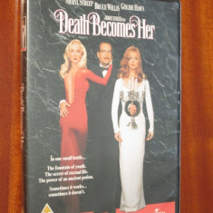 DEATH BECOMES HER - film COMEDIE HORROR 1 DVD (cu BRUCE WILLIS, original!), Engleza