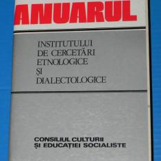 ANUARUL INSTITUTULUI DE CERCETARI ETNOLOGICE SI DIALECTOLOGICE 1985 SERIA B 3. etnografie. folclor (2607 - Carte folclor
