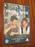 MUSIC AND LYRICS - film DVD - cu HUGH GRANT si DREW BARRYMORE (original din Anglia, in stare impecabila!!!), Engleza