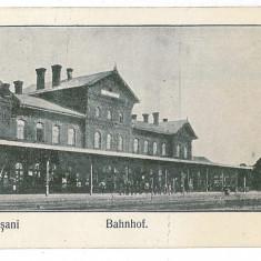 383 - Vrancea, FOCSANI, Railway station - old postcard - unused - Carte Postala Moldova 1904-1918
