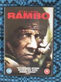 RAMBO - film DVD - cu SYLVESTER STALLONE (original din Anglia, in stare impecabila!!!)