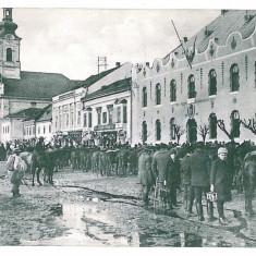 1480 - Maramures SIGHET, Market - old postcard - used - 1915 - Carte Postala Maramures 1904-1918, Circulata, Printata
