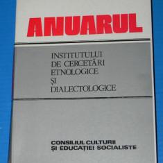 ANUARUL INSTITUTULUI DE CERCETARI ETNOLOGICE SI DIALECTOLOGICE 1984-1985 SERIA A 6-7. folclor. lingvistica (2606 - Carte folclor