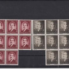 ROMANIA - 1939, 50 ANI DE LA MOARTEA LUI M. EMINESCU, 8 SERII MNH - LOT 1 RO - Timbre Romania