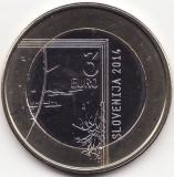 Moneda - Republica Slovenia - 3 Euro 2014 - A 200-a aniversare a nasterii lui Janez Puhar -  Rara - Tiraj 150000