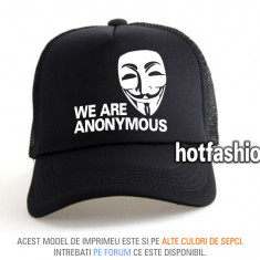 SAPCA, SEPCI TRUCKER, cu plasa, snapback - WE ARE ANONYMOUS - e x c l u s i v !