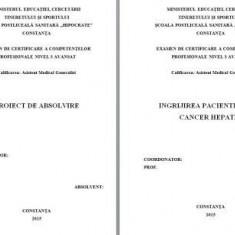 LUCRARE DE LICENTA A.M.G. - INGRIJIREA PACIENTULUI CU CANCER HEPATIC (1) (+ prezentare Power Point)