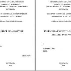 LUCRARE DE LICENTA A.M.G. - INGRIJIREA PACIENTILOR CU CHIST HIDATIC PULMONAR (+ prezentare PP)